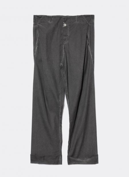 Pantalon anthracite large