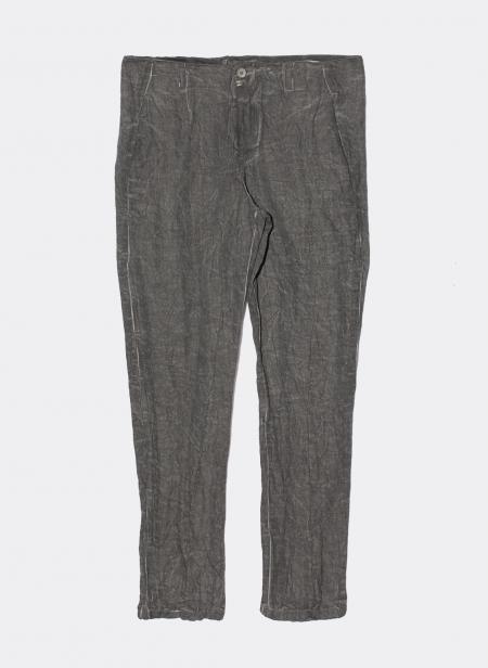 Pantalon en coton effet froissé