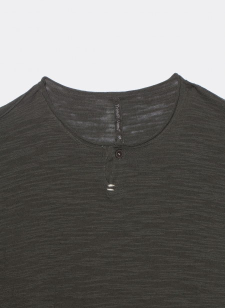 T-shirt manches longues avec bandes blanches
