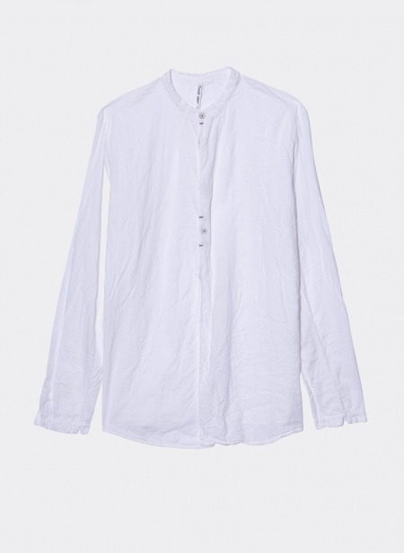 Cotton shirt with mao collar