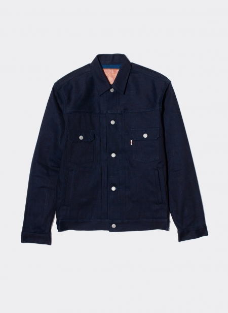 Type 2 Denim Jacket 13 Oz Zimbabwe Indigo X Indigo