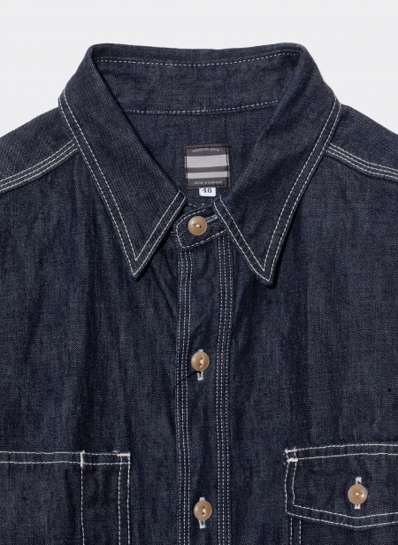 10 oz selvedge raw shirt