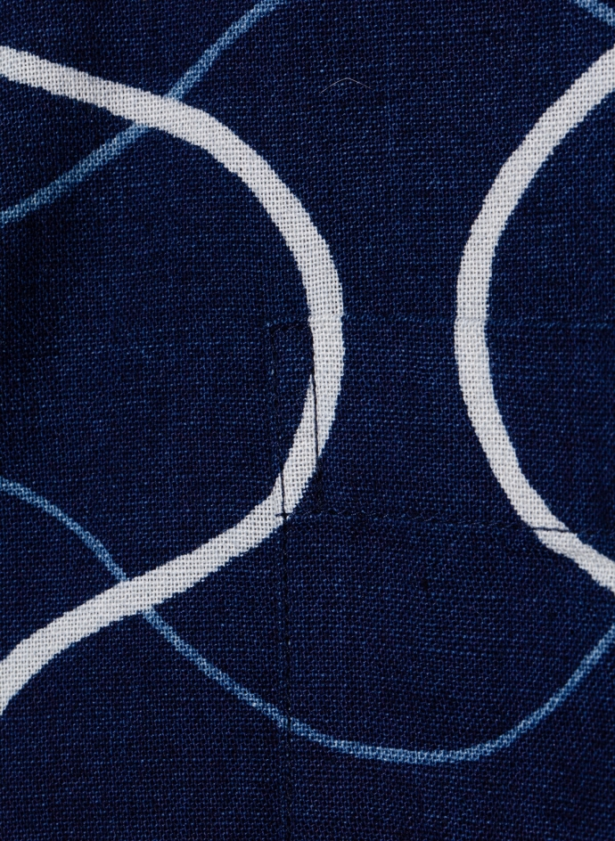 Chemise indigo motif gauze tatewaku