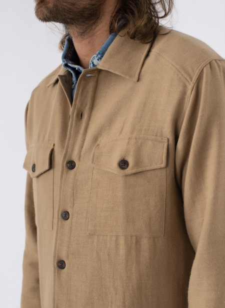 Military Shirt in Japanese Twill