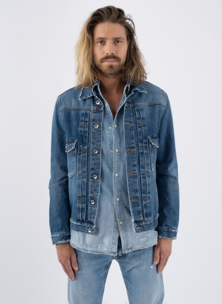 Veste En Denim Medium Wash Purple Label