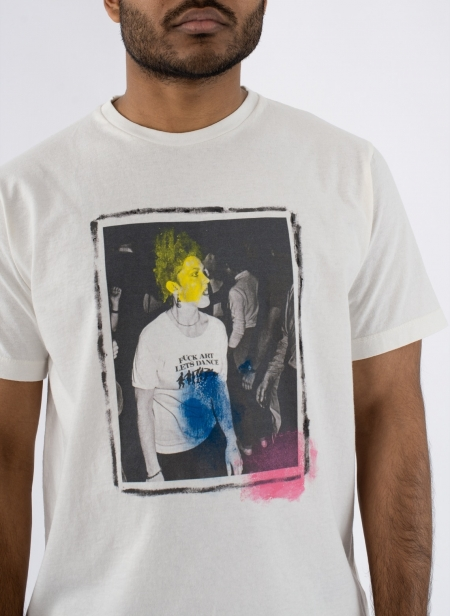 T-shirt S/s Fuck Art Hand Paint