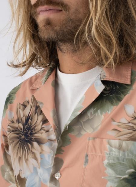 Shirt Rangi S/s Popeline Print Flower