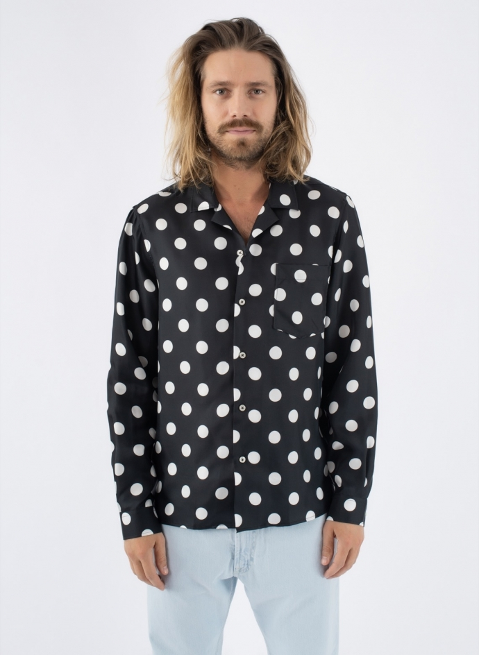 Dot Silk Shirt