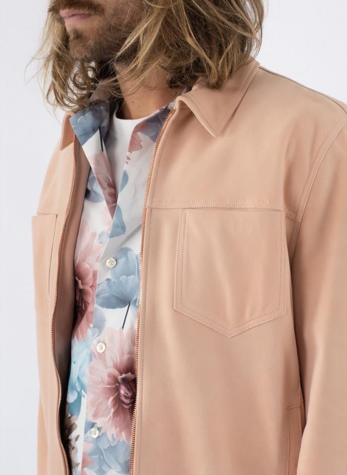 Jacket Shirt Zip Nappa Suede