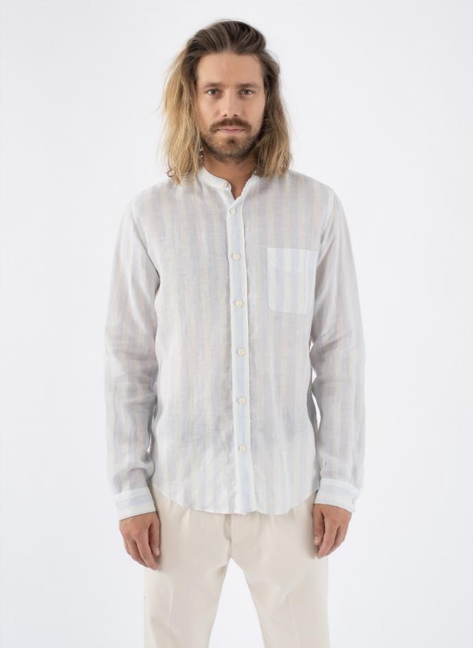 Taegu Shirt Stripe Linen Washed President's