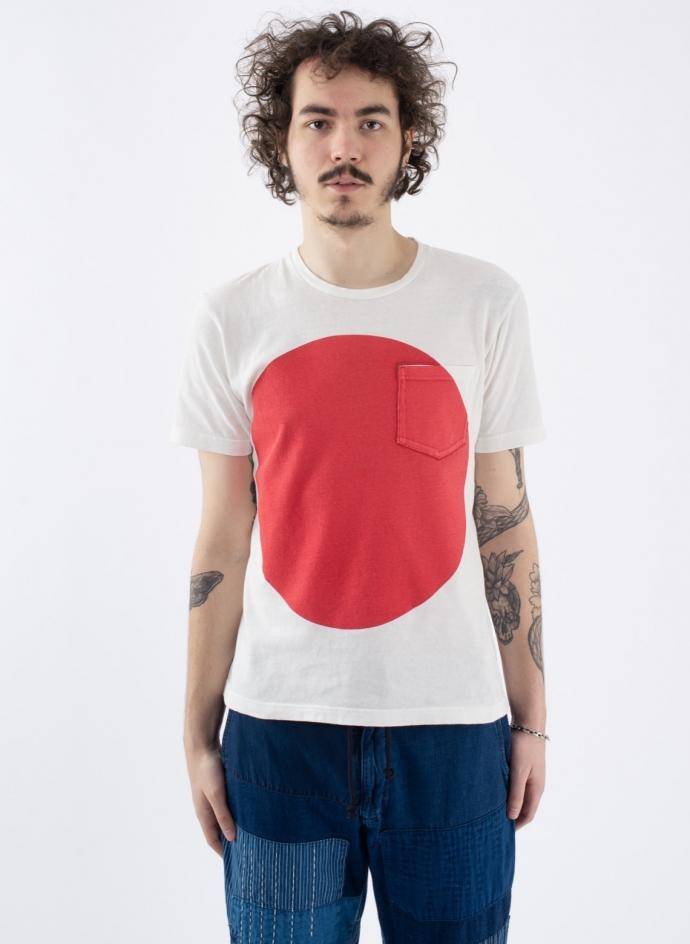 Big Circle Print T-shirt Red