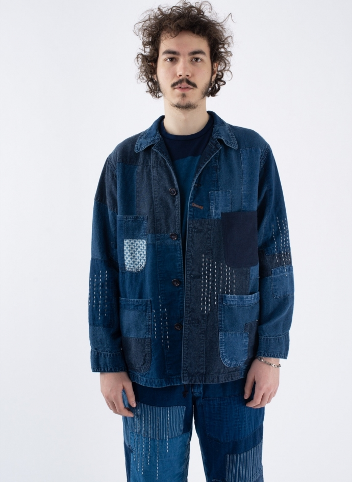 Linen Light Canvas Patchwork Coverall