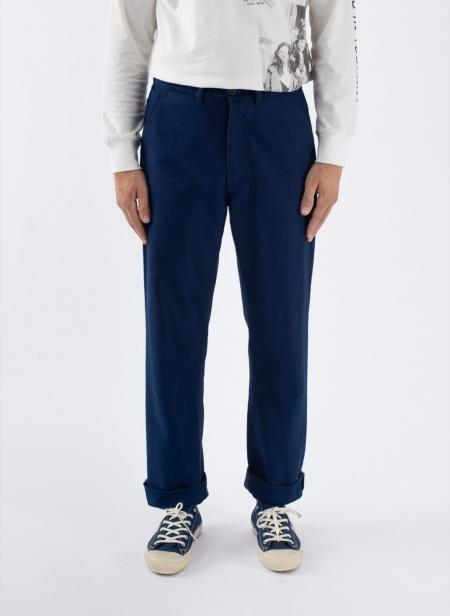 Trousers in Indigo Moleskine