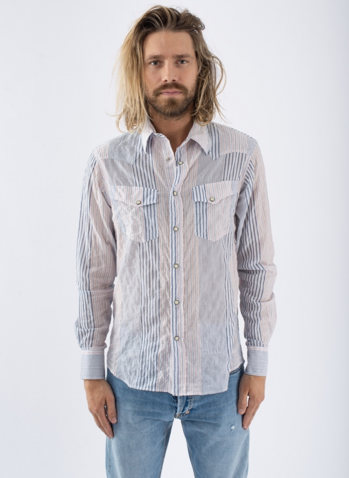 Chemise Western Patchwork Red
