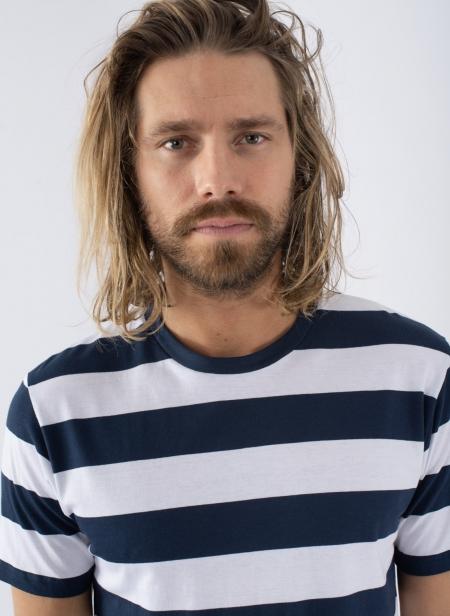 Riviera Organic T-shirt Stripe Bold Stripe