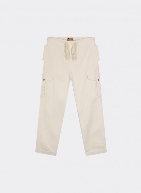 Ground Pant Garment Dyed Cotton Herringbone