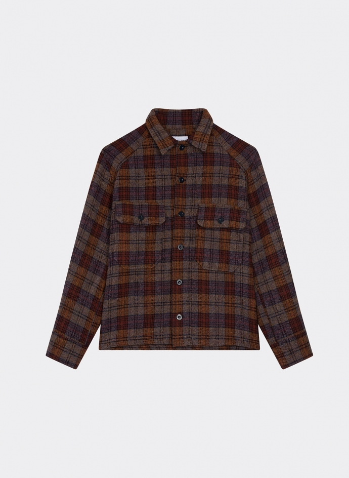 Jacket Shirt Wool Check