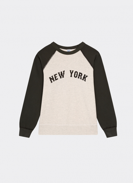 2 Tone Raglan Sweatshirt New York