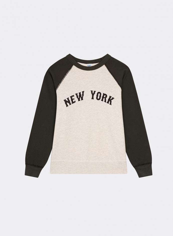 2 Tone Raglan Sweatshirt New York