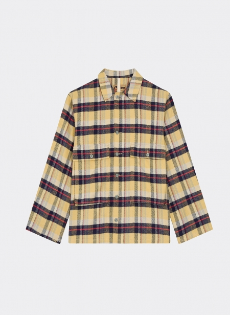 Shirt Cotton Flannel Yellow