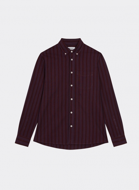 Button Down Shirt in a Japanese Stripe