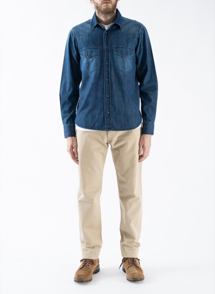 Dyaln Western Shirt 8 Oz Selvedge Japanese Denim