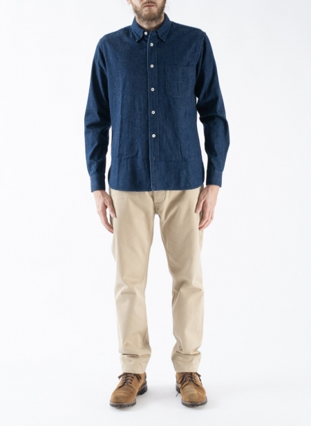 Chemise Button Down 8 Oz Selvedge Japanese Denim