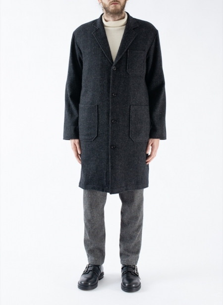 Wide Coat in Wool
