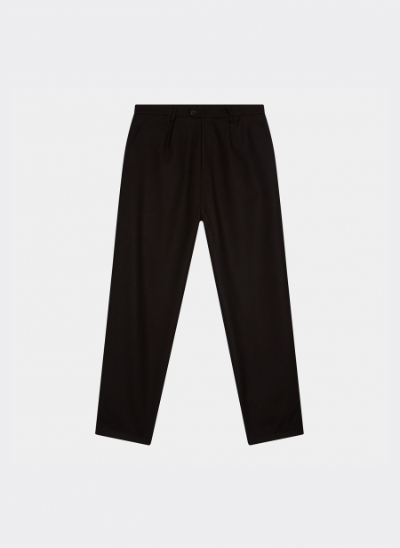 Wide Trousers in Heavy Wool