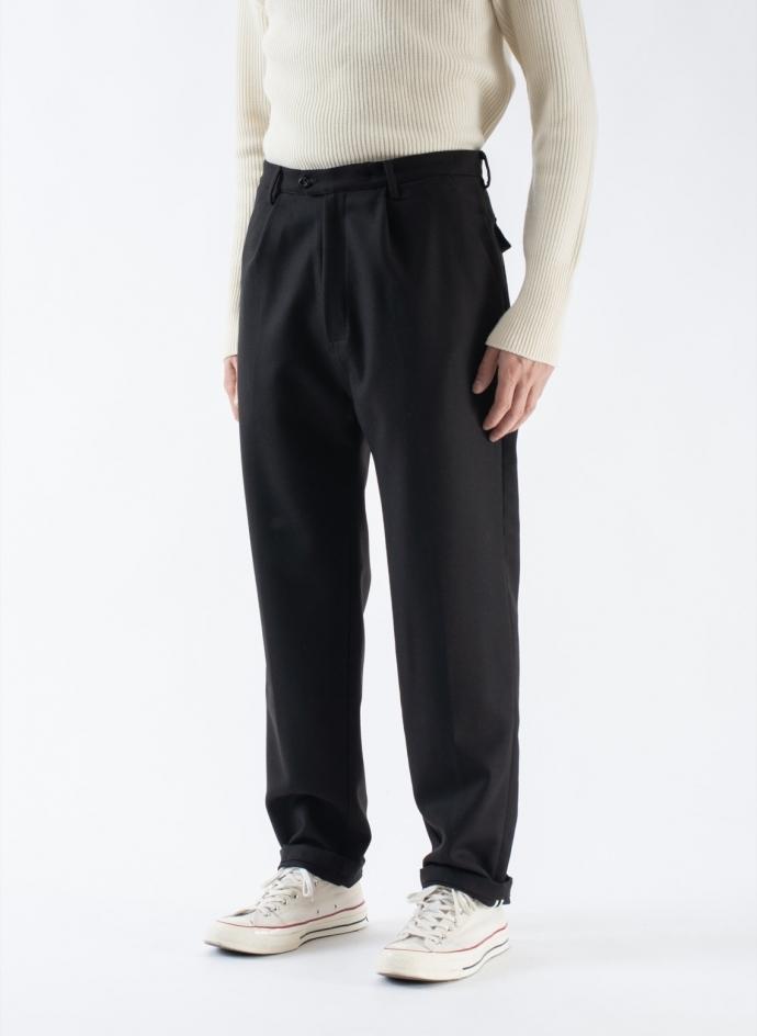 Wide Trousers in Heavy Wool