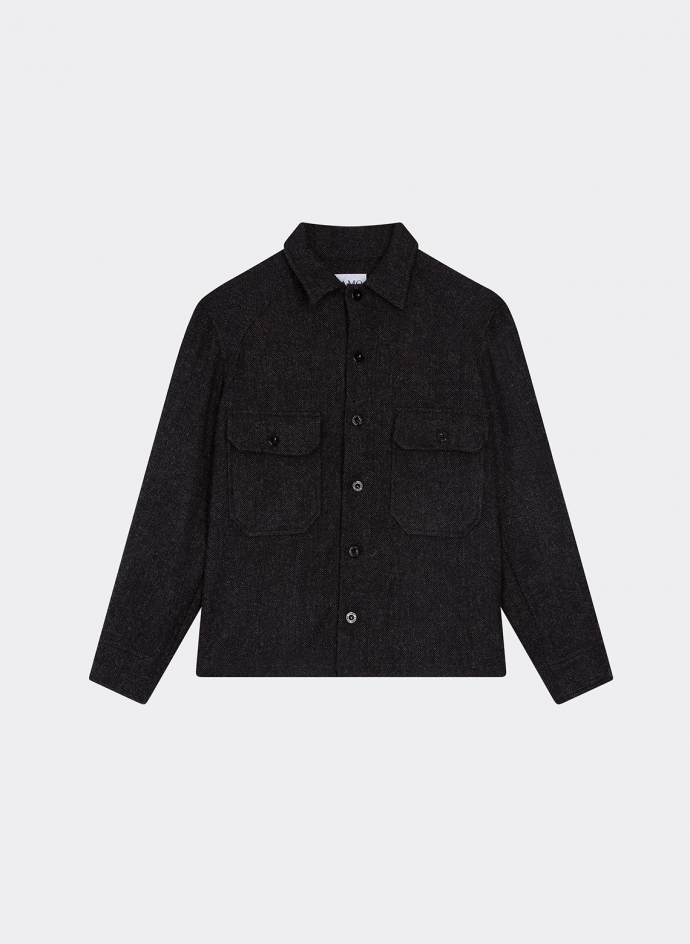Jacket Shirt Wool Gray