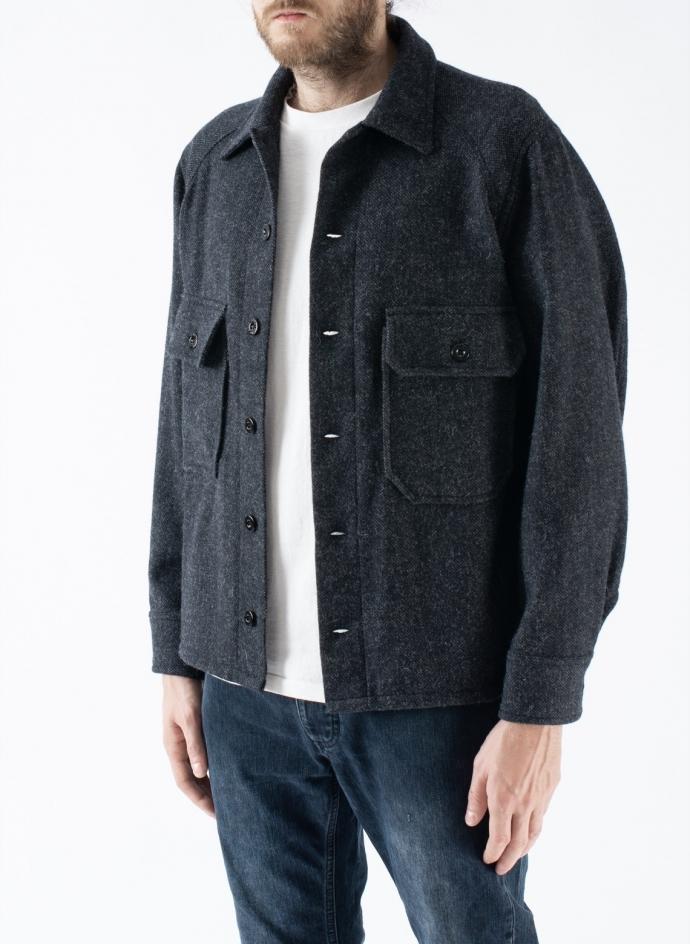 Jacket Shirt Wool Gray