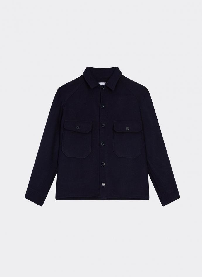 Jacket Shirt in Wool