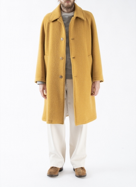 Peter Long Coat Ocher