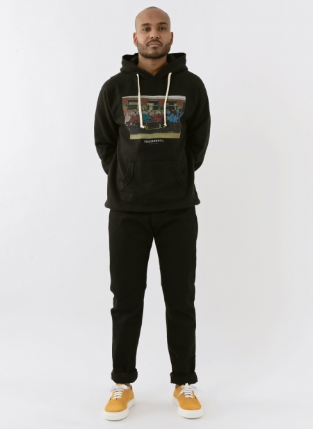 Sweatshirt Capuche Print President's