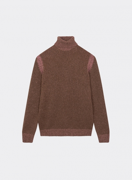 Pull Col Roule Baby Camel Vanise