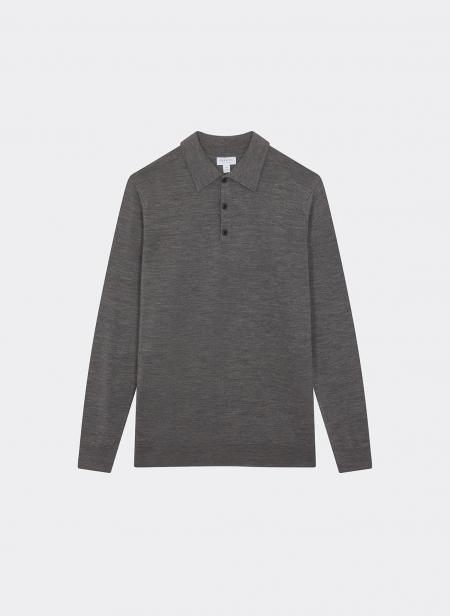 Merino Long Sleeve Polo