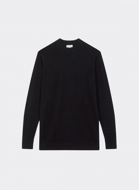 Mock Neck Merino Jumper