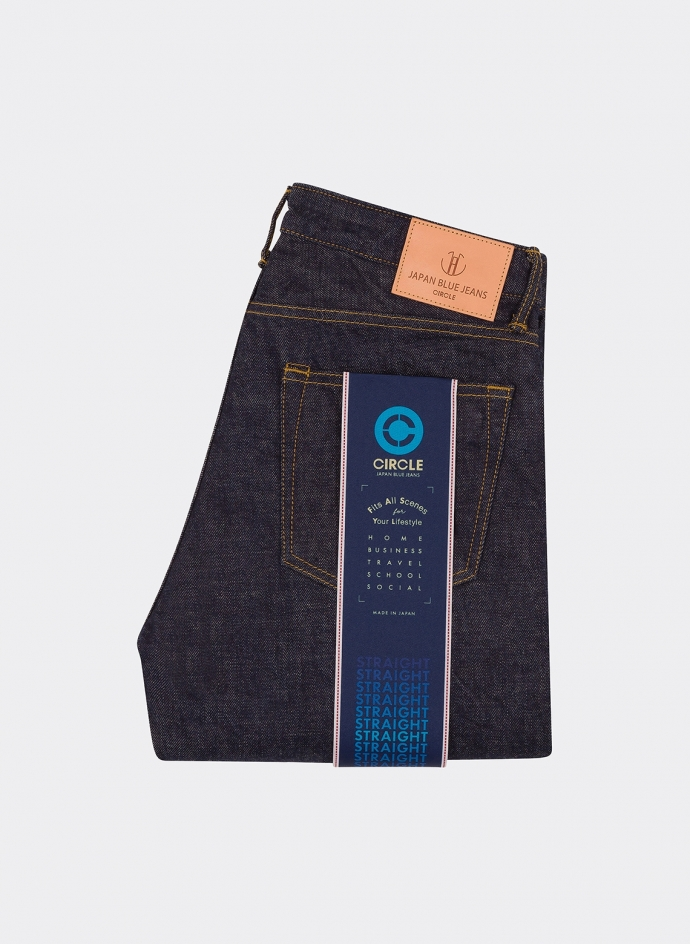 Circle Straight 12.5 Oz Selvedge Denim One Wash