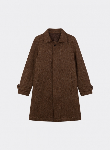 Paris Herringbone Wool Coat