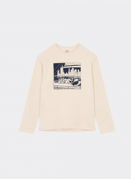 Graphic Heavy Cotton Jersey L/s Tee Shirt