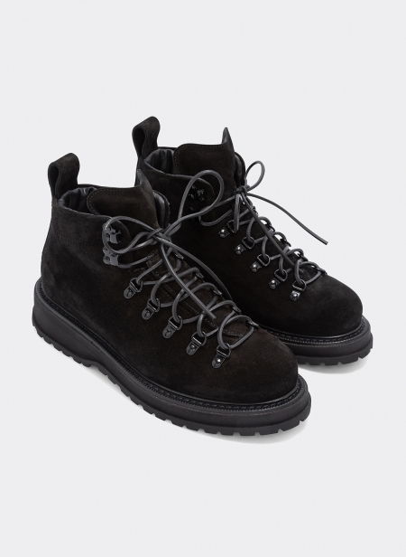 Zeno Hiking Nubuck Ankleboot Black