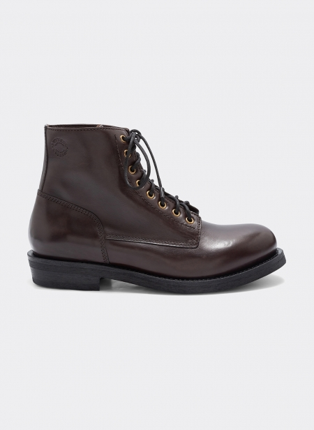T-bone Leather Ankleboot Moro