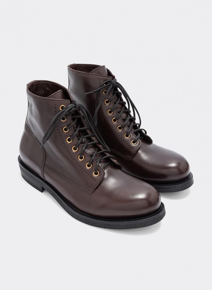 T-bone Leather Ankleboot Moro