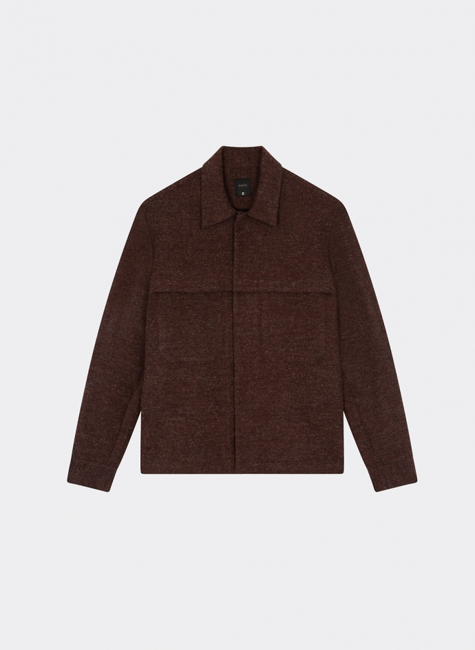 Snap Jacket in double face Japanese wool