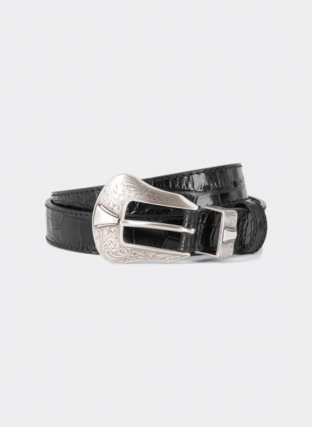 Debossed Leather 25mm Belt