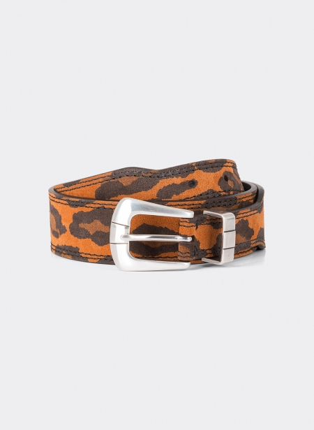 Suede Calfskin 38 Mm Belt