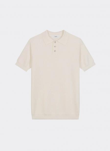 Knit Polo Shirt Coton Silk
