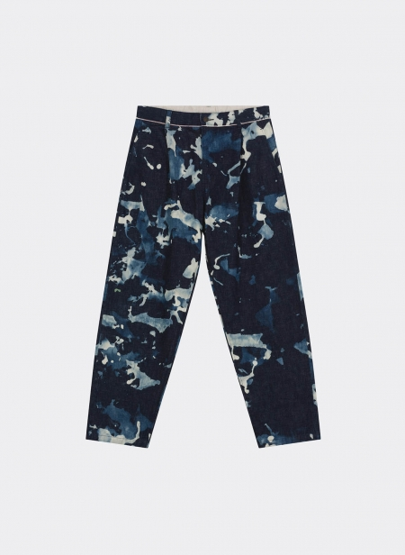 Selvedge Denim Baddy Trousers Tie Dye