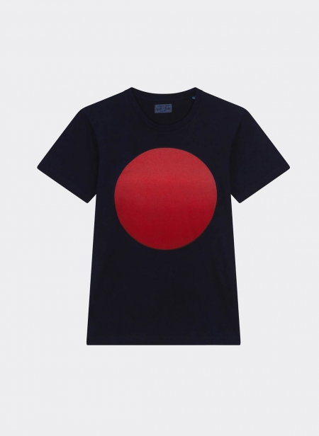 Gradation Circle Indigo Ss Tee